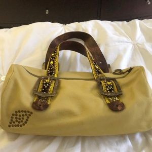 Betsy Johnson brand soft leather bag.
